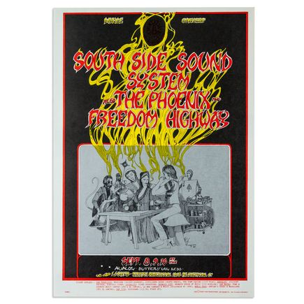 Greg Irons Art - South Side Sound System at Avalon Ballroom - September 1967
