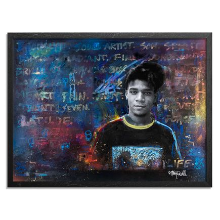Gregory Siff Art Print - A Permanent Energy - Basquiat. West Broadway. From My Forozade Cart. 1986