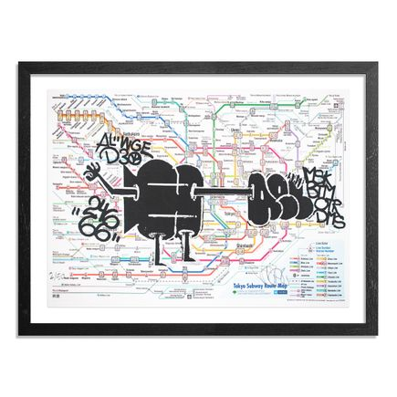 Hael Art Print - Tokyo Subway Map - Meguro Edition