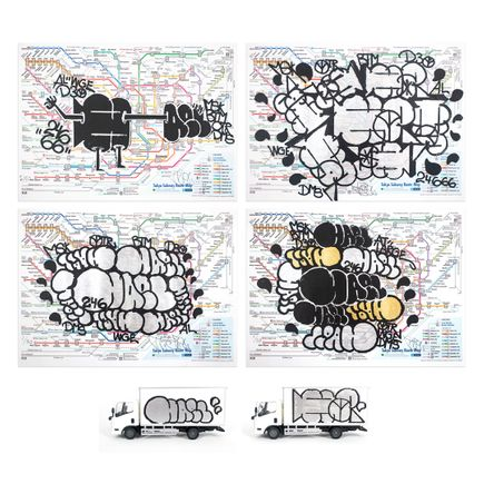 Hael Art Print - Delivery Truck Combo Pack - HAEL Truck + HA Truck + 4-Print Tokyo Maps Set