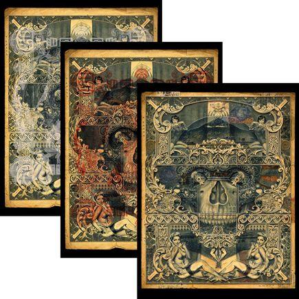 Handiedan Art Print - Atrium - 3-Print Set
