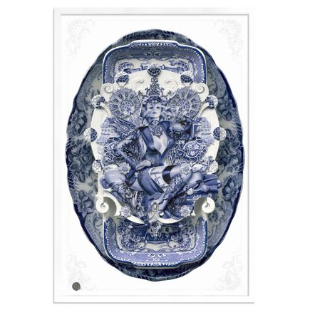 Handiedan Art Print - Bollywood Sugar In Blue - Oversized - 24 x 36 Inch Edition