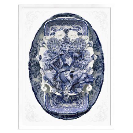Handiedan Art Print - Bollywood Sugar In Blue - Silver Edition