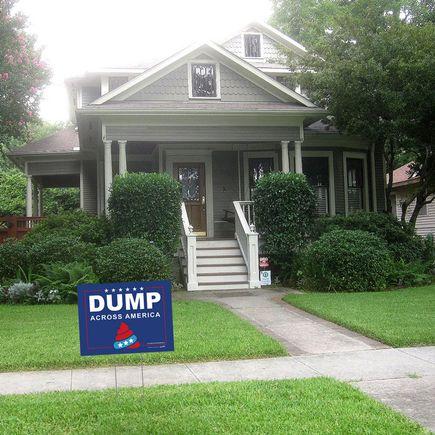 Hanksy Art - 5 - Dump Across America Yard Signs