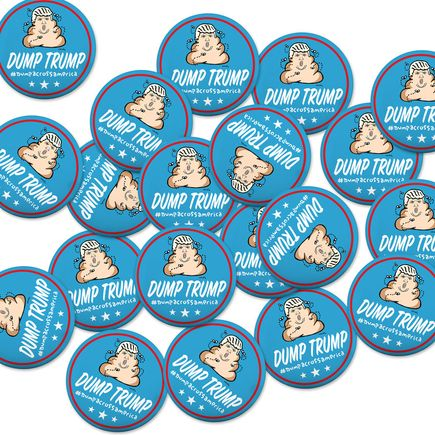 Hanksy Art - 5 - Dump Trump Buttons