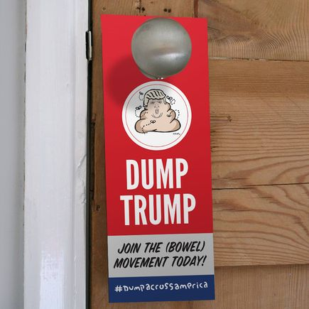 Hanksy Art - 25 - Dump Trump Door Hangers