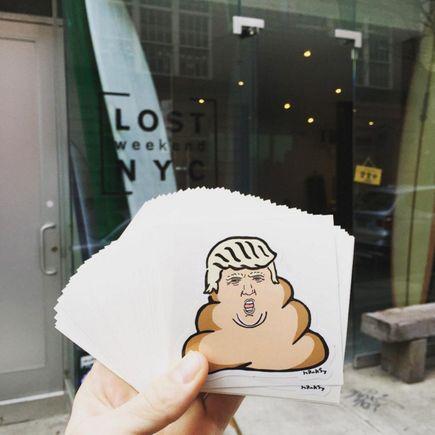 Hanksy Art - 100 - Dump Trump Stickers