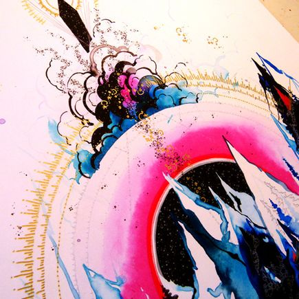 Hannah Stouffer Art Print - Microcosmos - Hand Embellished Edition