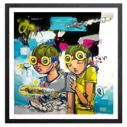 Hebru Brantley Art Print - Spielbergian Climax - Hand-Embellished Edition