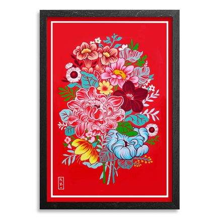 The Heliotrope Foundation Art Print - Ouizi - Red Bouquet