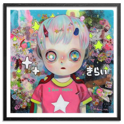 Hikari Shimoda Art - Hello World - Framed