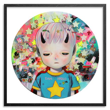 Hikari Shimoda Art - Solitary Child 3 - Framed