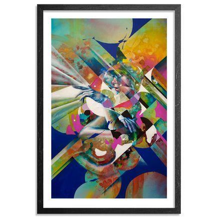 Hueman Art Print - Fantastic Voyeur - Hand-Embellished Edition - Framed