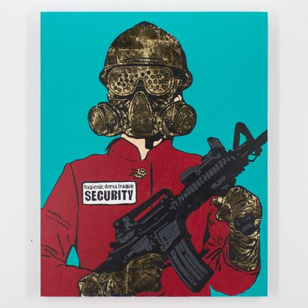 Hygienic Dress League Original Art - Female Security - Original Artwork