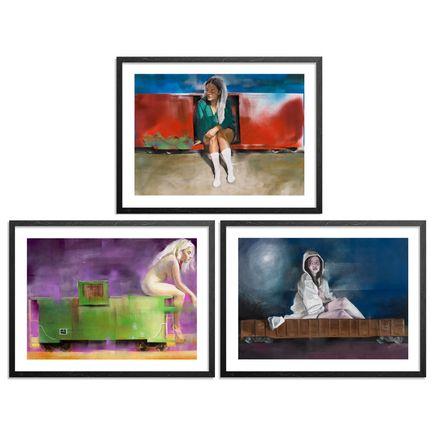 Jarus Art Print - Boxcar x Caboose x Gondola - 3-Print Set