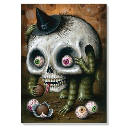 Jason Limon Original Art - Cryptidbit No. 48 - Original Painting
