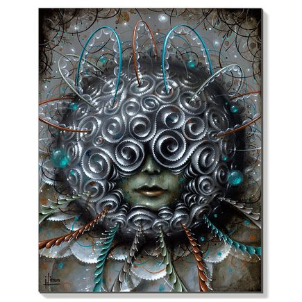 Jason Limon Original Art - Dark Spirals - Original Painting