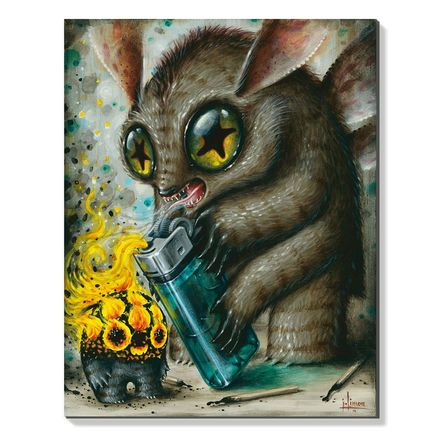 Jason Limon Original Art - Feeding The Torch Devil - Original Painting