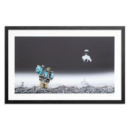 Jeff Gillette Art Print - Banksy Cow Parachute