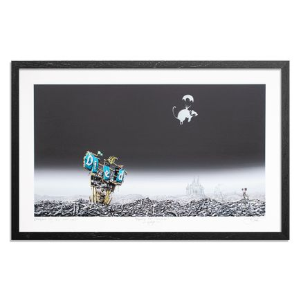 Jeff Gillette Art Print - Banksy Rat Parachute - Right
