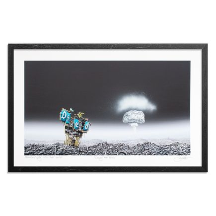 Jeff Gillette Art Print - Glowing Atom Bomb