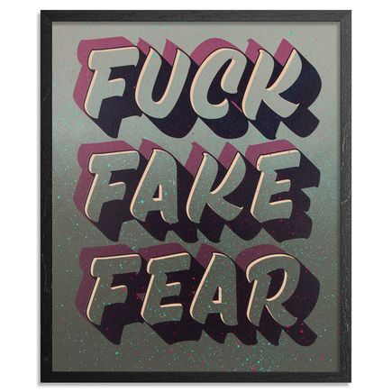 Jeff Gress Art Print - Printer's Select I - Fuck Fake Fear