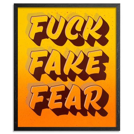 Jeff Gress Art Print - Printer's Select II - Fuck Fake Fear