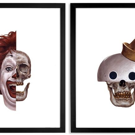 Jeff McMillan Art Print - Ronald + Jack In The Box - 2 Print Set