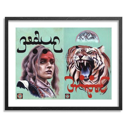 Jeff McMillan Art Print - Rebecca Fishsticks / Hi Tiger! - Framed
