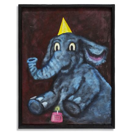 Jerry Vile Original Art - The Elephant's Birthday