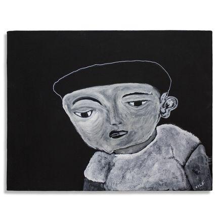 Jerry Vile Original Art - Manuel & The Invisible Peanut (Mixed)