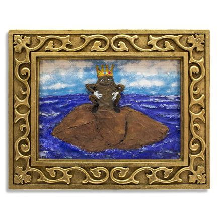 Jerry Vile Original Art - King Shit of Turd Island