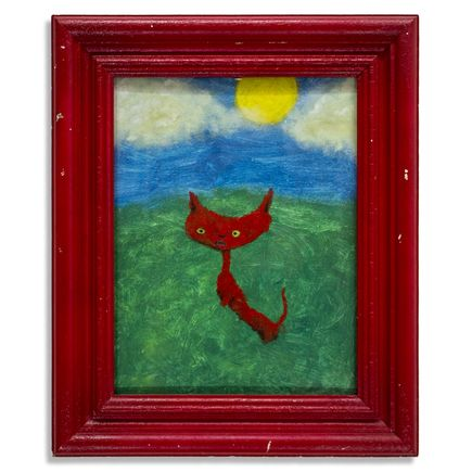 Jerry Vile Original Art - Itty Bitty Red Kitty