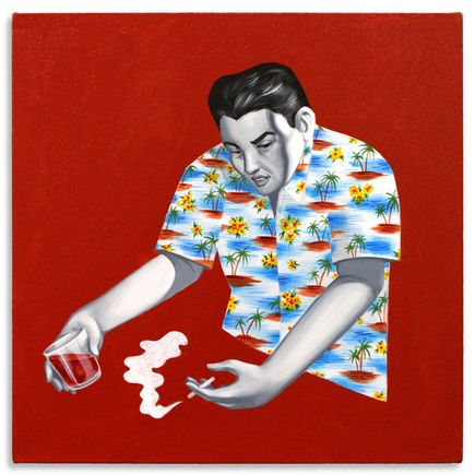 Jesse Kassel Original Art - Trouble in Paradise #1 - Original Painting