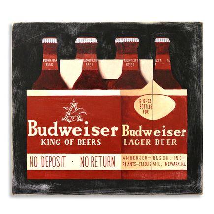 Jesse Kassel Original Art - Bud Heavy 6 Pack - Original Artwork