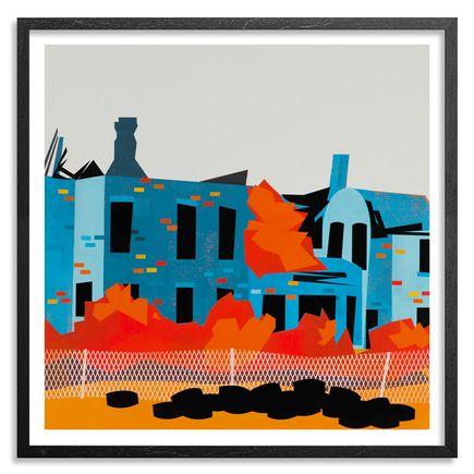 Jesse Kassel Art Print - Cityscape 01 - Framed