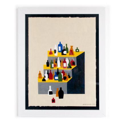 Jesse Kassel Original Art - Liquor Bottles Left On Stoop II