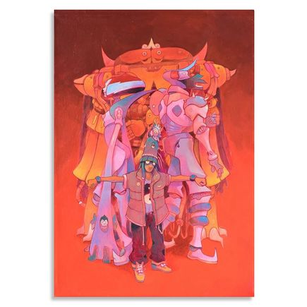 Jesus Benitez Original Art - Demian Pulex y la Banda de la Coatlicue #1