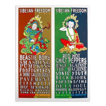 Jim Evans / Taz Art - Tibetan Freedom Concert - Beastie Boys, Red Hot Chili Peppers, Smashing Pumpkins - Jun. 15 & 16 at Golden State Park