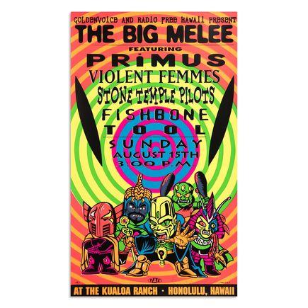 Jim Evans / Taz Art Print - The Big Melee - Primus - 1993