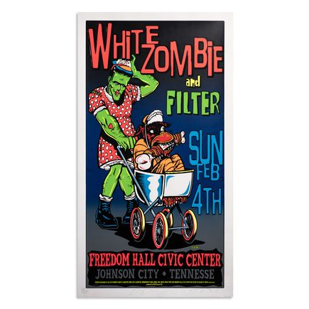 Jim Evans / Taz Art Print - White Zombie and Filter - Freedom Hall Civic Center - 1996