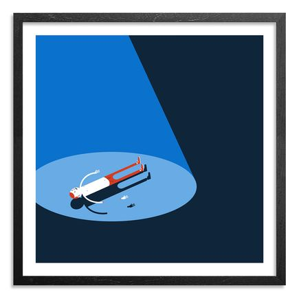 Jim Houser Art Print - Floats - Blue Edition