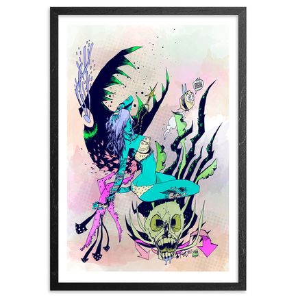 Jim Mahfood Art Print - Futuristic Dragon - Hand-Embellished Prints