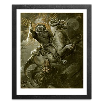 John Dunivant Art Print - Hand-Embellished Prints - Saint Luke And The Dragon