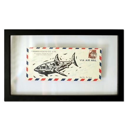 John Fellows Original Art - Shark Mail 1