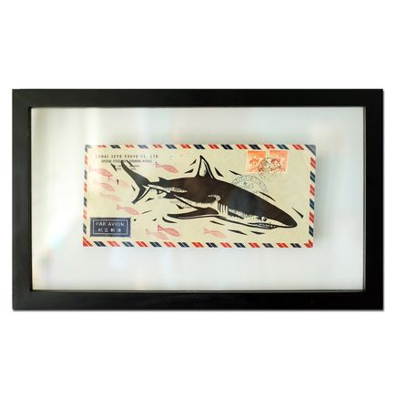 John Fellows Original Art - Shark Mail 2