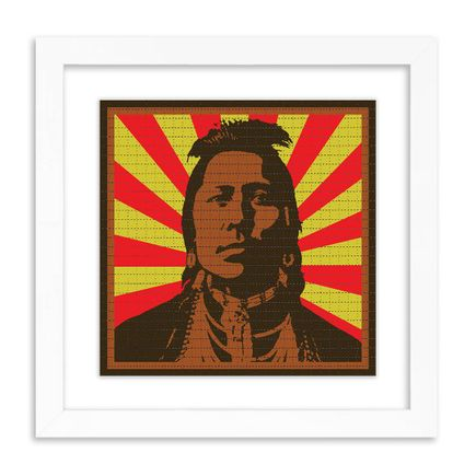 John Van Hamersveld Art Print - Pinnacle Indian - Blotter Edition