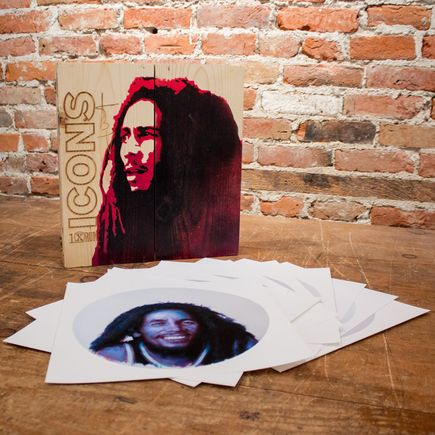 John Wentz Art Print - Icons - Bob Marley Box Set