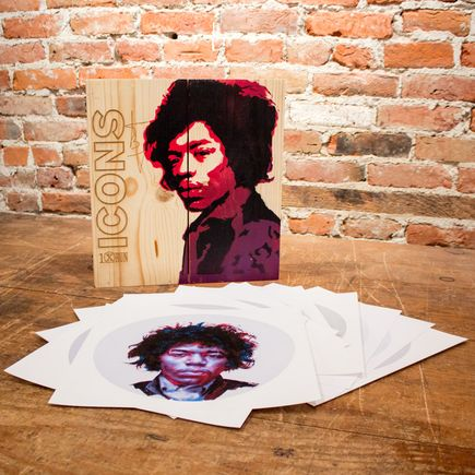 John Wentz Art - Icons - Jimi Hendrix Box Set