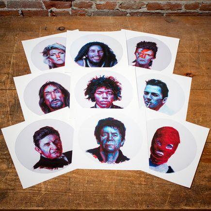 John Wentz Art Print - Icons - 9 Print Set